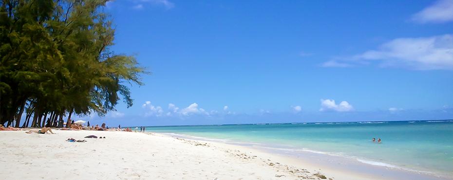 plage flic en flac mauritius